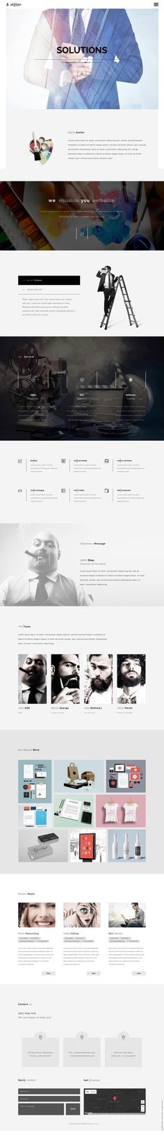 Atelier is a creative multi-purpose Adobe #MuseTemplate. The #template is suitable for creative agencies, artists, photographers, corporate website & graphic and web designers etc.