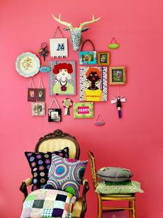 Sweet colorful wall decor!