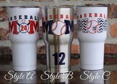 Baseball Mom Tumbler Cup RTIC 30 ounce & Baseball by VinylGifts Baseball Cup, Baseball Bases, Baseball Crafts, Baseball Mom Shirts, Baseball Equipment, Softball Mom, Baseball Season, Baseball Jerseys, Baseball League
