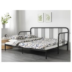 IKEA FYRESDAL day-bed with 2 mattresses Two functions in one - sofa in the day and bed at night.