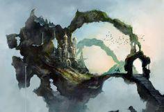 Fantasia Castelo  Papel de Parede