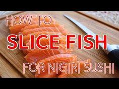 How to Slice Fish for Nigiri Sushi 【Sushi Chef Eye View】 - YouTube