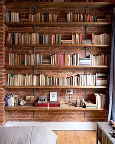 Love this brick bookshelf!  What do you think?  My last post talked about the adaption of Miss Peregrine's Home for Peculiar Children into a movie.  I loved discussing it with everyone. Now, I would love to know which book you would want to see adapted onto the big screen?