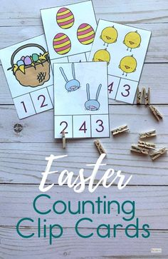 FREE Easter Counting Clip Cards - Make practicing counting to 10 fun with these FREE printable Easter Counting Clip Cards perfect math activity for april with toddlers, pre k and preschoolers. Educational Activities For Toddlers, Counting Activities, Easter Activities, Easter Crafts For Kids, Easter Ideas, Math Games, Easter Worksheets, Free Worksheets, Word Games For Kids