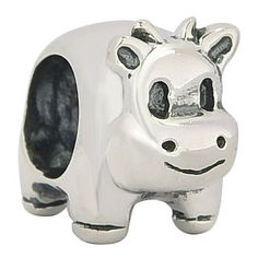 Happy Cow Charms Lucky Animal Charm for Mom 925 Sterling Silver Pets Charm Bead Fits Pandora Charms