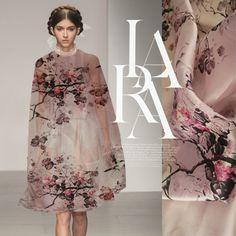 Big European leg of digital inkjet ink flower raw silk organza silk fabrics silk clothing Wide Clearance - Taobao