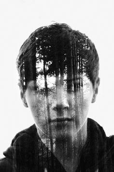 Tree Boy- Double exposure by Gabrial Deacon, via 500px