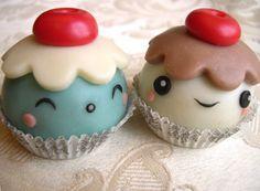 "Cioccolato plastico ""Kawaii chocolate truffles"". Chocolate plástico ""trufas de chocolate de Kawaii"""