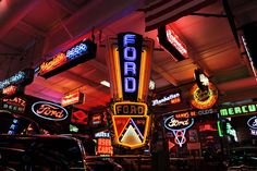 """Vintage Ford """"Jubilee"""" neon sign that recently sold at auction for over $39,000."""