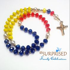 Rosary Necklace, Christian Jewelry, Organza Bags, Mother Gifts, Primary Colors, Special Gifts, Swarovski Crystals, Jewelry Box, Jewelry Design