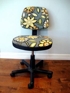 reupholster office chair tutorial