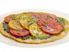 Get Heirloom Tomato and Basil Tart Recipe from Food Network