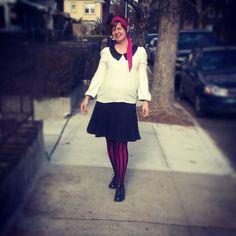 Lisa on the side walk