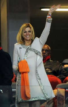 Princess Maxima Photos Photos - Princess Maxima of the Netherlands enjoys the atmosphere prior to the 2010 FIFA World Cup South Africa Final match between Netherlands and Spain at Soccer City Stadium on July 11, 2010 in Johannesburg, South Africa. - Netherlands v Spain: 2010 FIFA World Cup Final