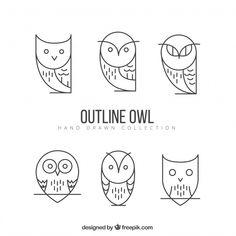 Owl Outline, Tattoo Outline, Owl Vector, Vector Free, Buho Logo, Owl Tat, Dog Logo Design, Owl Logo, Owl Illustration
