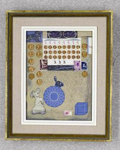 Joseph Cornell - Penny Arcade Series - 1964 - collage with ink and pencil on Masonite - the Dicke Collection