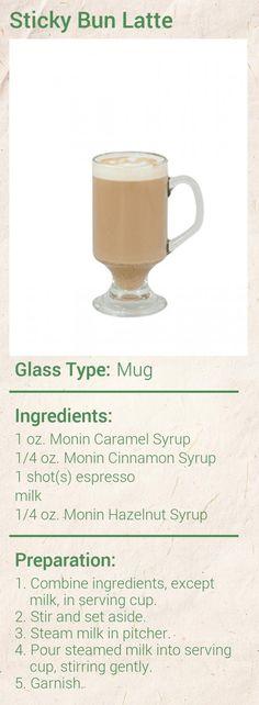 Sticky Bun Latte Recipe - Monin