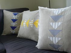 Flying Geese Pillow Cover by Jenny Bartoy by Stumbles & Stitches, via Flickr