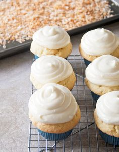 Coconut Cupcakes from @A Happy Food Dance