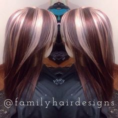 Wine base color with cool light blonde panelings.