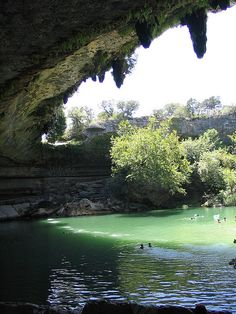 Hamilton Pool - Texas. An amazing place that's only about 45 minutes from San Marcos.