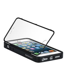 iPhone 5 case with screen protector built in. Better than the usual case like this because you can flip it over on a hinge. Neat!