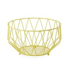 Davis & Waddell Stockholm Fruit Bowl 26x14cm Yellow - Buy Now & Save!