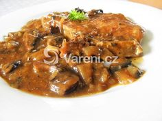 Recept na dušené vepřové kotlety s čerstvými houbami. Pokrm podáváme jako hlavní chod s rýží. Vareni.cz - recepty, tipy a články o vaření. Pork, Meat, Chicken, Kale Stir Fry, Pork Chops, Cubs