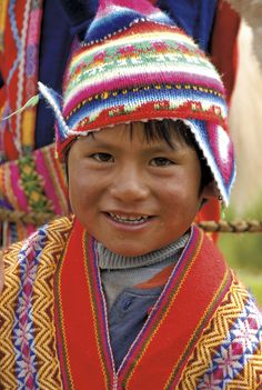 Boy from Urubamba Valley (Sacred Valley of the Incas), Peru.
