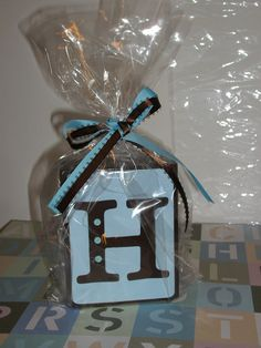 Personalized Baby Shower Centerpiece Decoration Name Blocks Room Decor. $6.00, via Etsy.