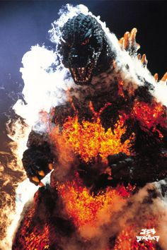 The second Godzilla in his final days. as Burning Godzilla. Godzilla Wallpaper, Godzilla Vs Destroyah, Japanese Monster, Japanese Film, Famous Monsters, Classic Monsters, Creature Feature, King Kong, Horror Movies