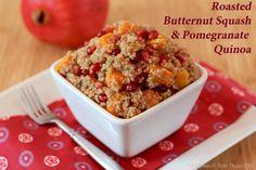 Butternut Squash & Pomegranate Quinoa | Cupcakes & Kale Chips