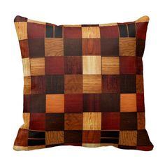 Wood Brock Pattern Pillow