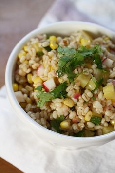 Chipotle Barley Salad with Corn, Zucchini & Radishes