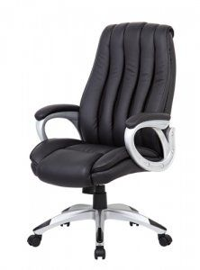 Beautifully upholstered with ultra-soft, durable and breathable Black CaressoftPlus™. Stylized channel back with mesh inserts. Padded armrests covered with CaressoftPlus™ upholstery. Upright locking position. Pneumatic gas lift seat height adjustment.  For more visit: http://sd-office.com/i-16722868-boss-black-caressoftplus-executive-high-back-chair.html
