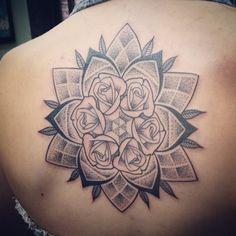 #floral #mandala #tattoo #Back
