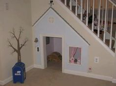 Under stairs play house/dog house