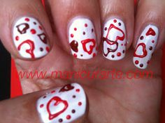 *MANICURARTE*: Red heart nails