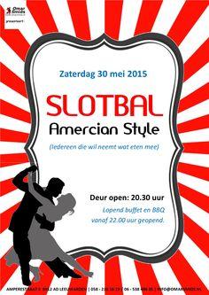 Flyer voor het Slotbal bij Dance Centre Omar Smids