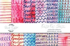 Watercolor Patterns - Pastel Pop by Seaside Digital on @creativemarket
