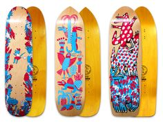 Blast Skates Illustrated Boards