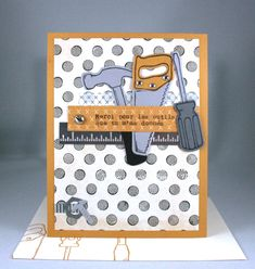 Les bons outils (Nailed It) stamp set and Secret Underground Designer Series Paper from Stampin' Up! - Designed by Cindy Major