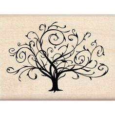 fall quilling | Flourished Fall Tree - Inkadinkado - Could quill ... | Doodles and fo ...