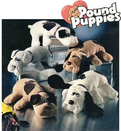 Kid80s.com | We did our civic duty by rescuing a few Pound Puppies. The pups were created by Mike Bowling in 1984 and then produced by Tonka.
