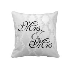 MRS & MRS. LESBIAN WEDDING  PILLOW GREAT GIFT