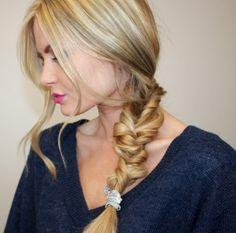 cute loose side braid hairstyle