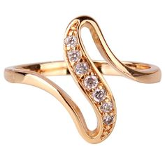 2016 Cheap Women Finger Rings 18K Gold Plated Engagement Wedding Rings for Women Cubic Zirconia CZ Vintage Jewelry Bijoux R103