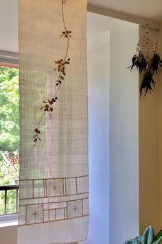 Embroidery Stitches, Embroidery Designs, Loft House, Through The Window, Quilt Stitching, Window Coverings, Fabric Art, Stores, Diy And Crafts