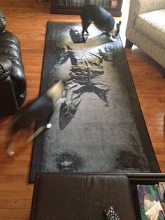Thinkgeek Han Solo In Carbonite Rug