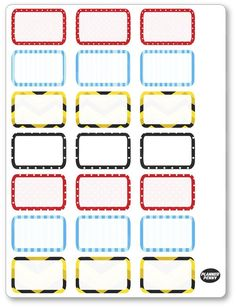 Pup Friends Half Boxes Planner Stickers